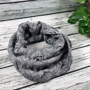 Anthropologie MADISON 88 gray infinity scarf